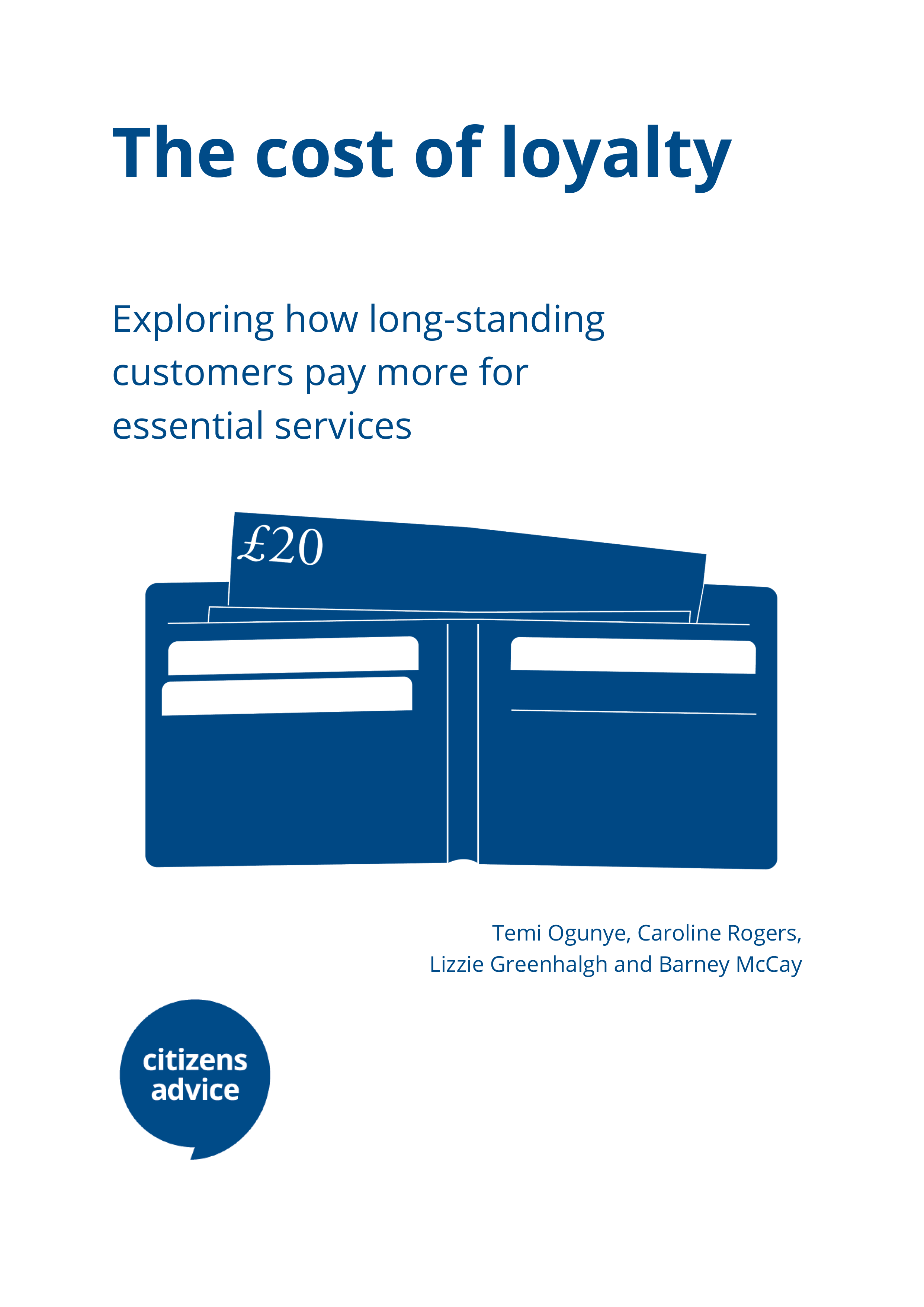 The cost of loyalty report cover
