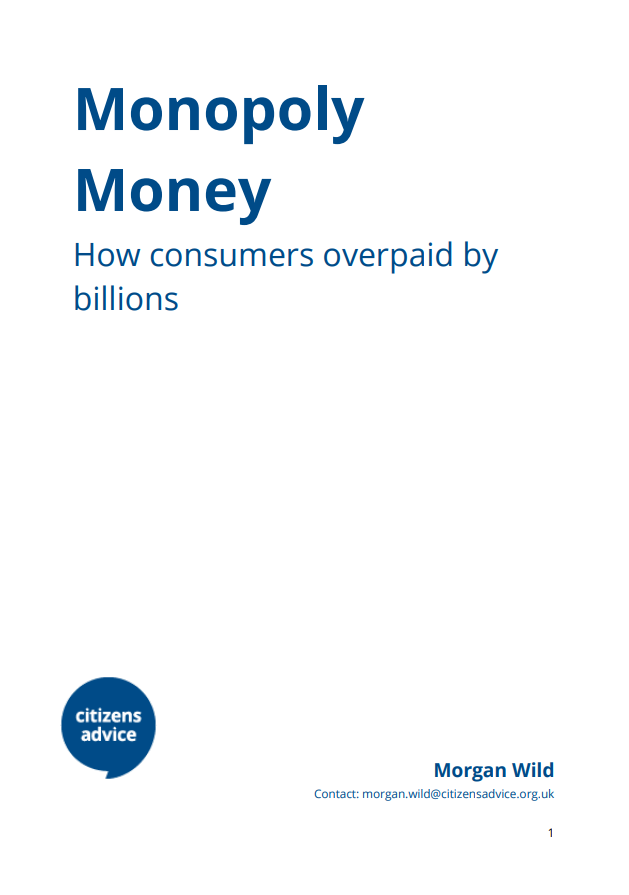 Monopoly money report cover