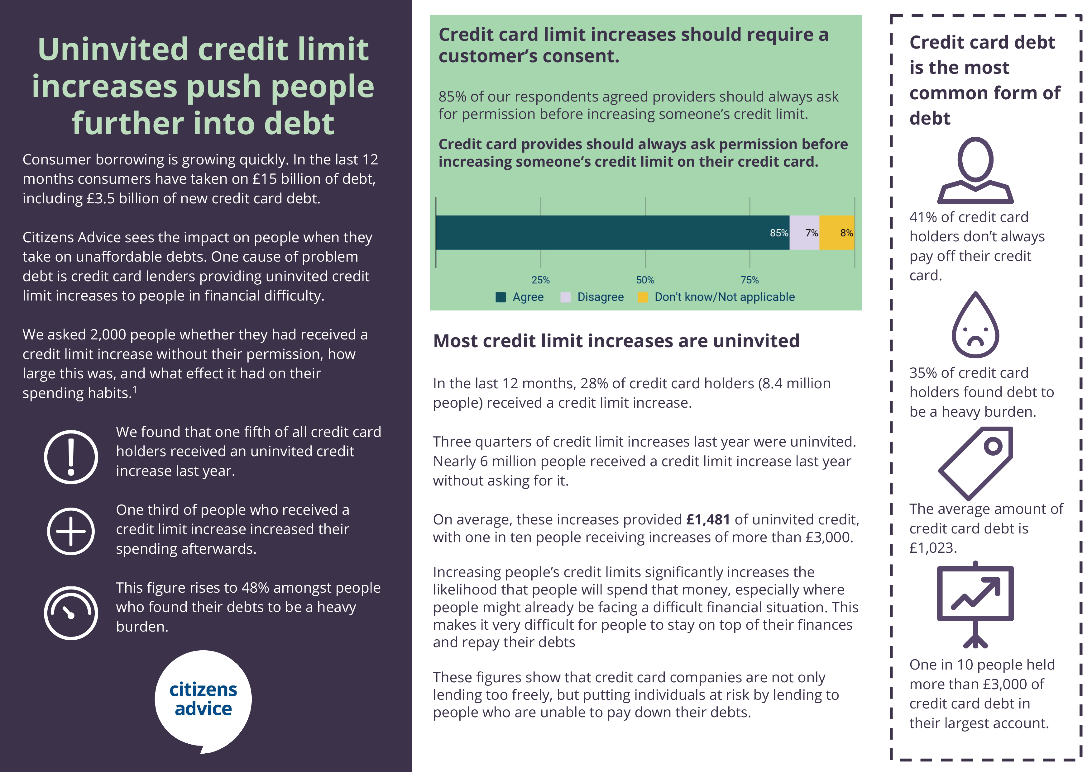 Credit limit increases briefing