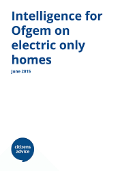 Cover of Intelligence for Ofgem on electric only homes report