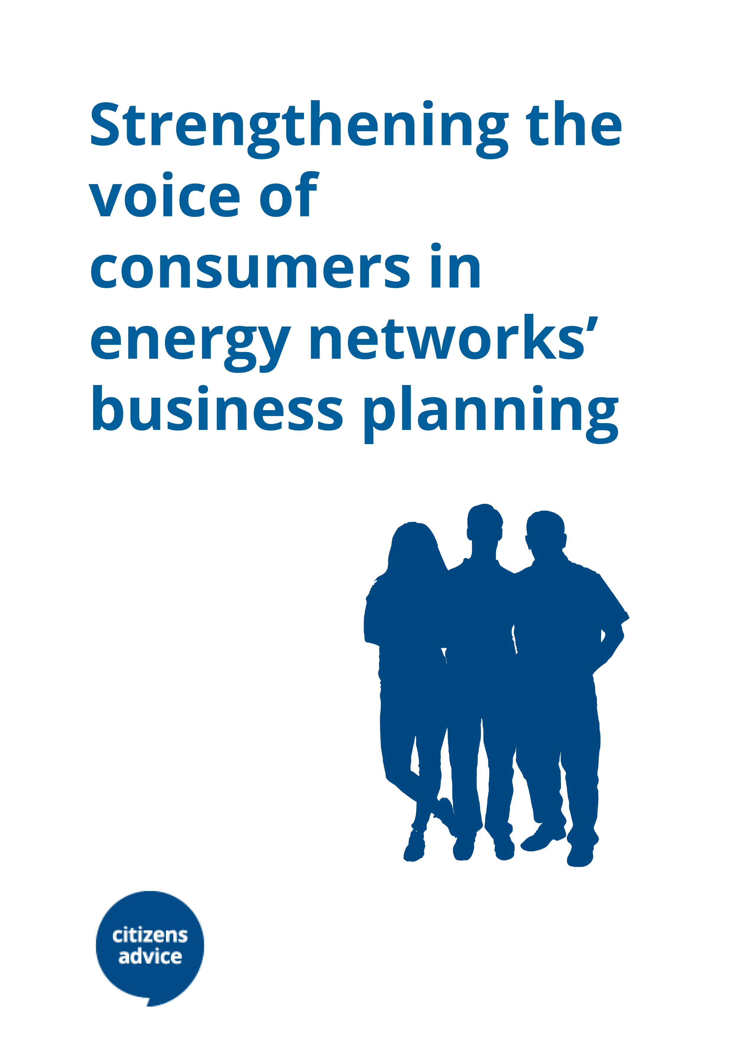 cover report Strengthen consumer voice
