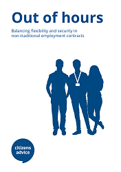 Cover of Citizens Advice Report Out of Hours