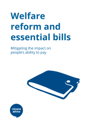 welfare reform and essential bills: mitigating the impact on people's ability to pay