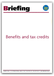 Benefits and tax credits briefing cover