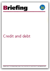 Credit and debt briefing cover