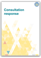 Consultation response cover
