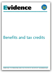 Benefits and tax credits evidence cover