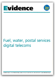 Fuel, water, postal services, digital and telecommunications evidence cover