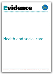 Health and social care evidence cover