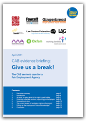 Give us a break report cover