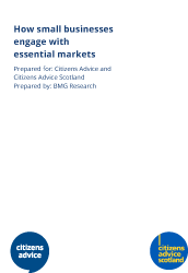 How small businesses engage with essential markets report cover