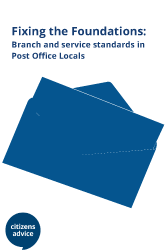 Cover image for Citizens Advice report Fixing the foundations